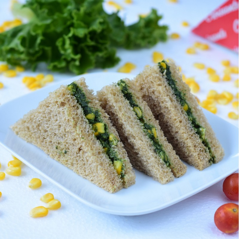 Spinach & Corn Sandwich