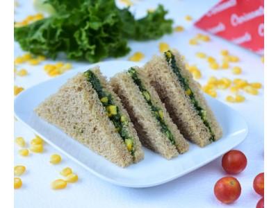 Spinach & Corn Sandwich